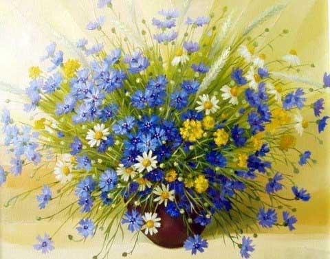 Полевые цветы: букет своими руками. Мастер-класс с фото.