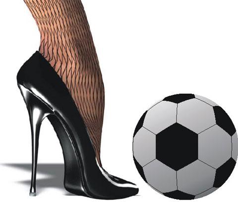 футбол и женщина