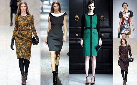 зимние платья и юбки