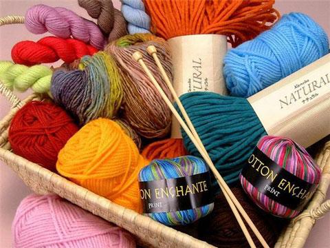 пряжу для вязания